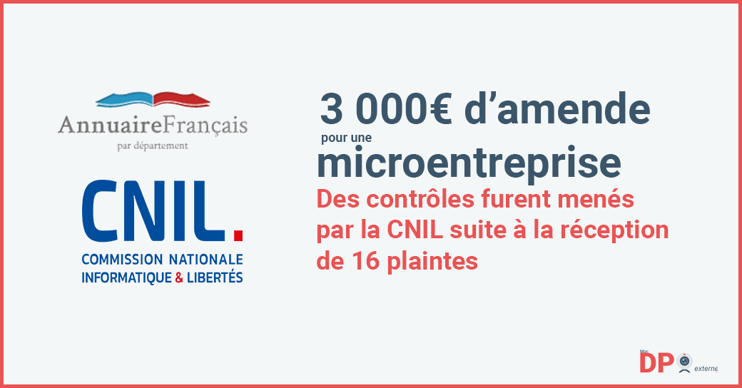3000 euros d'amende pour une microentreprise